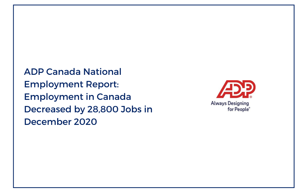 ADP Canada National Employment Report